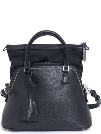Maison Margiela 5ac Headbang In Black Leather