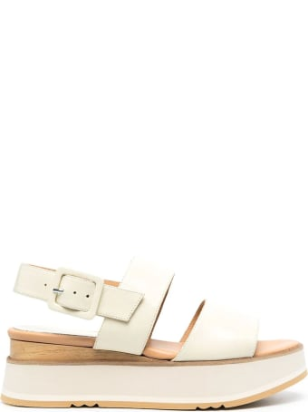 Paloma Barceló Ecru Leather Javari Sandals