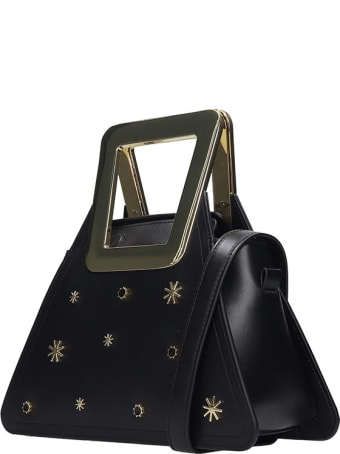 Kat Maconie Fuji Mini Hand Bag In Black Leather