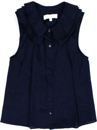 Chloé Blue Cotton Shirt