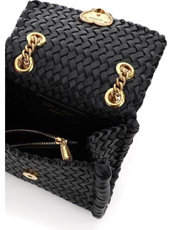 Dolce & Gabbana Devotion Chevron Woven Bag