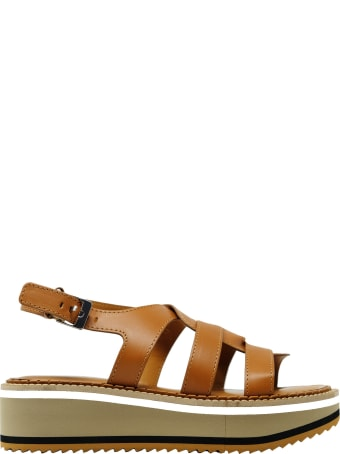 Clergerie Robert Clergerie Tan Leather Sandals