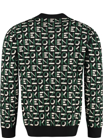 Kenzo All Over Logo Crew-neck Sweater
