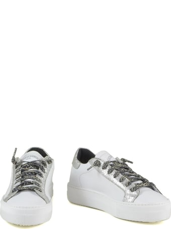 P448 White/silver Leather Women's Sneakers