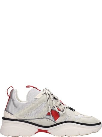 Isabel Marant Kindsay Sneakers In Silver Tech/synthetic