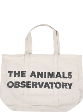 The Animals Observatory Ivory Bag For Girl With Logo