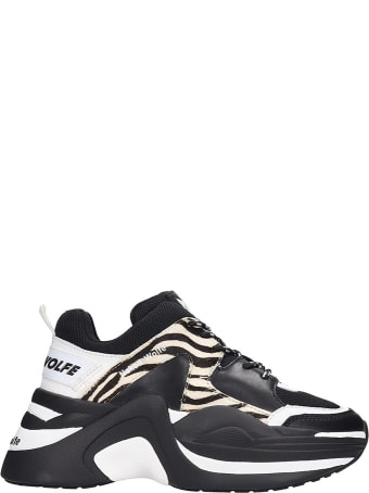Naked Wolfe Track Sneakers In Black Leather