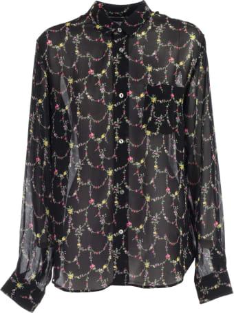 Junya Watanabe Comme Des Garçons Shirt L/s Georgette Flower Pattern