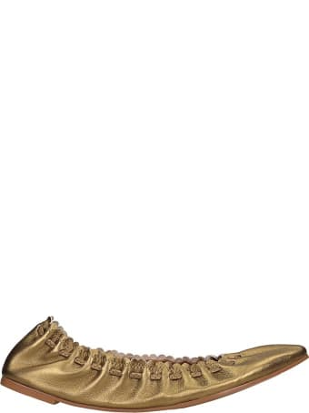 See by Chloé Ballet Flats In Bronze Leather