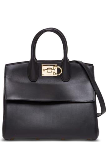 Salvatore Ferragamo The Studio Handbag In Black Leather