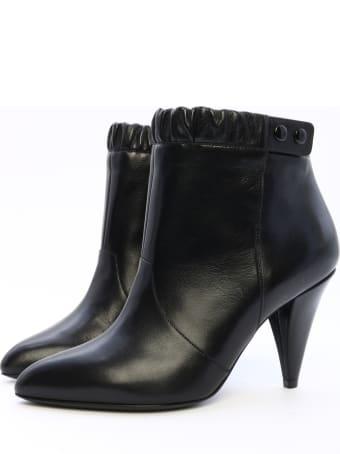 Celine Ankle Boot Black Leather