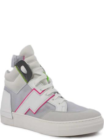 Cinzia Araia White Leather High Top Sneakers