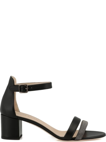 Fabiana Filippi Leather Heel Sandal
