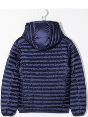 Save the Duck Iris Down Jacket In Blue Nylon