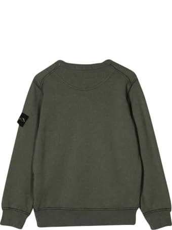 Stone Island Junior Green Sweatshirt