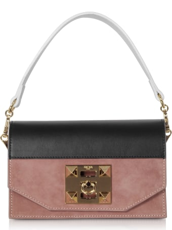 Salar Kio Color Block Leather Shoulder Bag