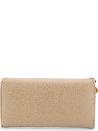 Stella McCartney Beige And Gold Continental Falabella Wallet