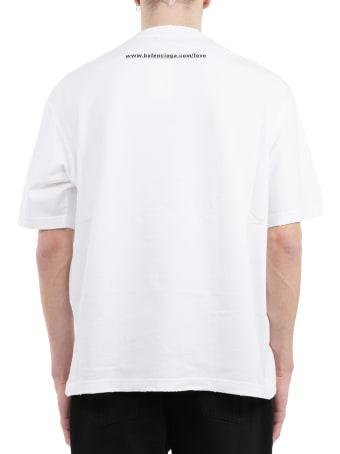 Balenciaga White Ilu T-shirt
