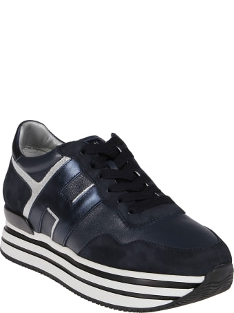 Hogan Blue Leather H222 Sneakers