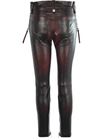 Ben Taverniti Unravel Project Unravel Stretch Leather Skinny Lace-up Trousers