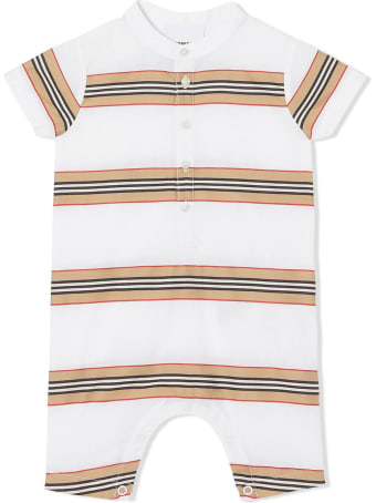 Burberry White Cotton Playsuit