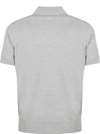 Brunello Cucinelli Grey Cotton Polo Shirt