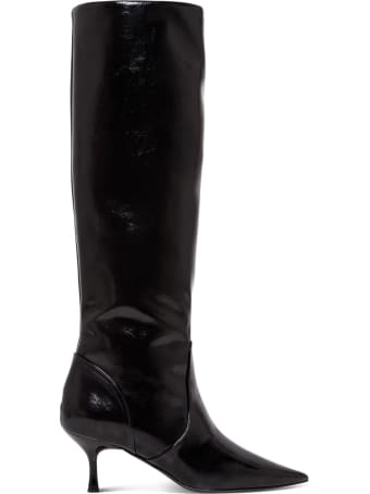 Pollini High Patent Leather Boots