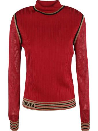 Fendi Silk Ribs Sweater
