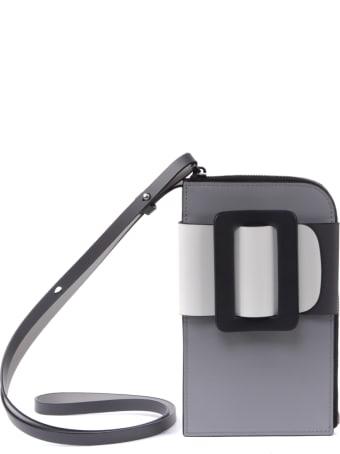 BOYY Phone Case Buckle Crossbody In Color Block Leather