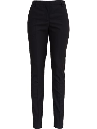 Tonello Black Pants In Stretch Wool