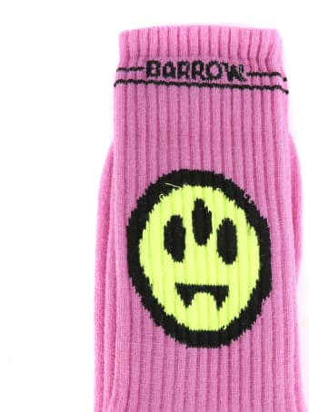 Barrow Pink Cotton Socks With Smile