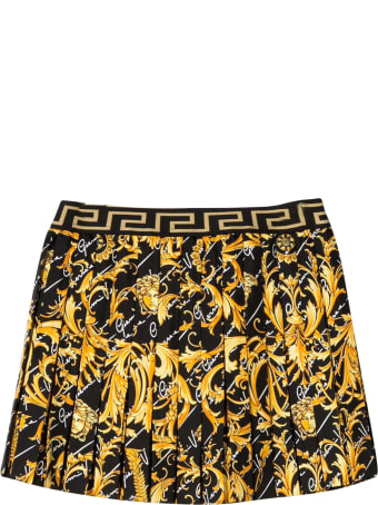 Young Versace Pleated Skirt