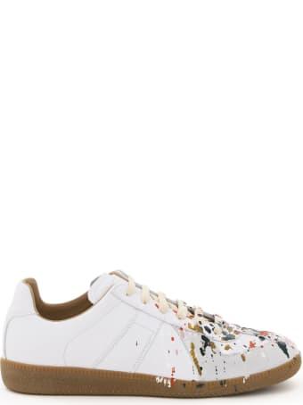 Maison Margiela Paint Drop Replica Leather Sneaker