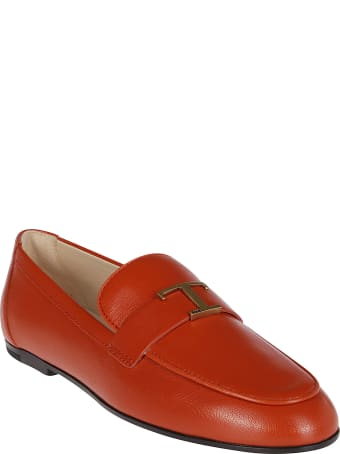 Tod's Terracotta Leather Loafers
