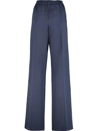 Agnona Cotton Wide Leg Trousers