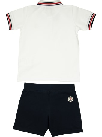 Moncler Complete With Polo And Bermuda Shorts