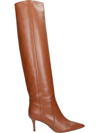 Fabio Rusconi High Heels Boots In Leather Color Leather