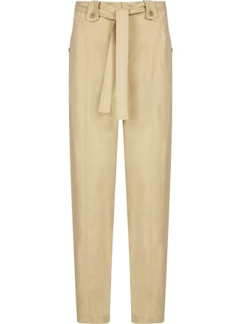 Kenzo Belted Cotton Trousers