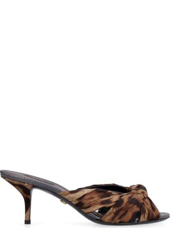 Dolce & Gabbana Keira Satin Mules