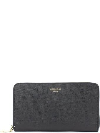 Avenue 67 Black Saffiano Wallet