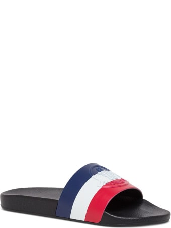 Moncler Rubber Slide Sandals With Logo