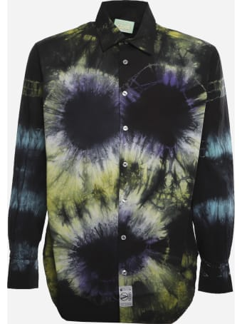 Aries Cotton Shirt With All-over Tie-dye Print