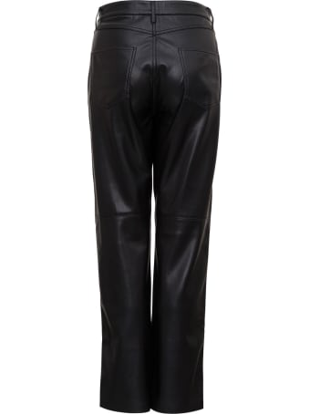 Nanushka Five-pocket Trousers In Vegan Nappa Leather