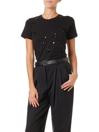 Parosh Conuit Stars With Embroidery