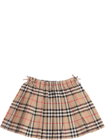 Burberry Pearly Checked Pleated Skirt