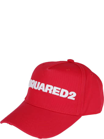 Dsquared2 Red Cotton Baseball Cap