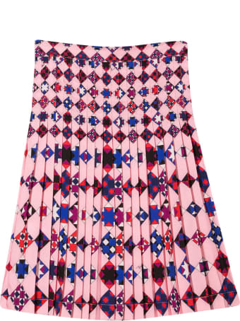 Emilio Pucci Teen Pleated Skirt
