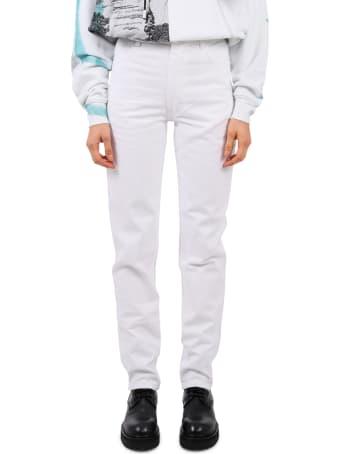 Eckhaus Latta White El Jean Jeans
