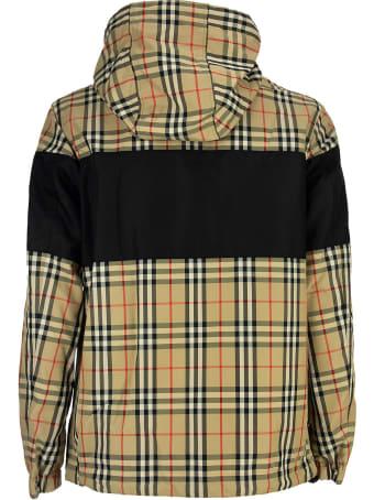Burberry Contrast Panel Check Cotton Reversible Jacket Shropshire