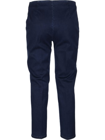 Piazza Sempione Indigo Cotton Trousers